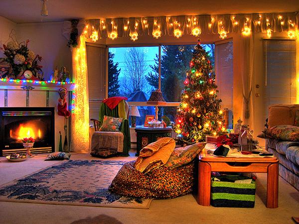 Consejos para iluminar tu hogar estas navidades carlos for Living room xmas ideas