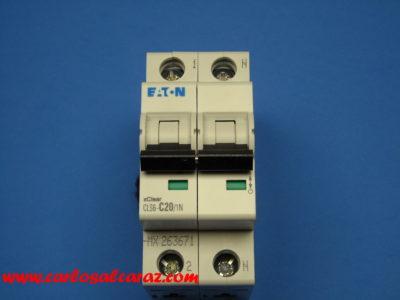 Interruptor Automático 1 polo+neutro 20A