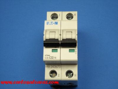 Magnetotermico 1polo+neutro 32Amp 247650