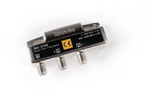Repartidor con conector F 2 Direcciones