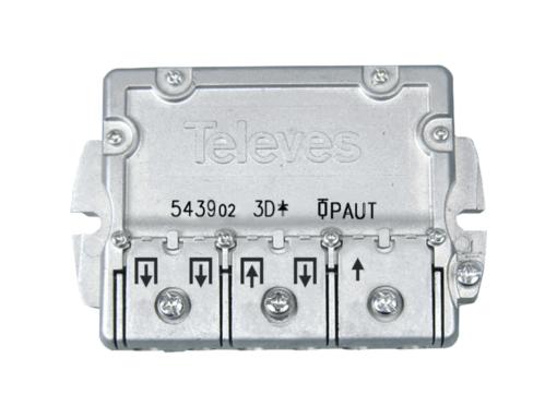 REPARTIDOR 3 SALIDAS ICT + PAU 543902 TELEVES