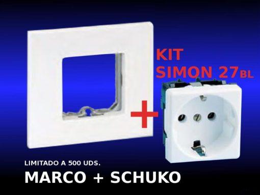 Kit marco + SCHUKO27 de Simon