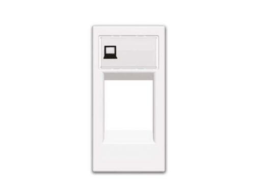 Tapa soporte conector teléfono/informático serie zenit blanco.