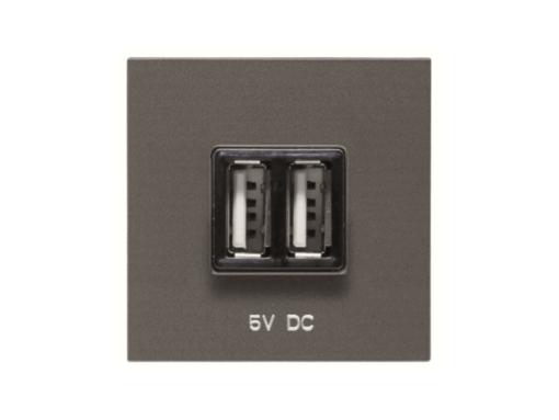 TOMA CARGADOR USB 2M 2*750MA/5V AN