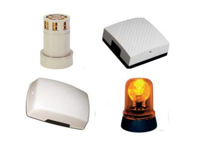 Detectores de movimiento, timbres y sirenas