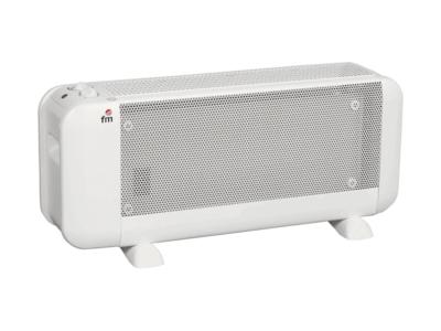 Radiador MicaBM-15 FM 1500 W / 230 V / 50 Hz. 2 potencias: 750 W / 1500 W. Alcanza pleno rendimiento en un minuto.