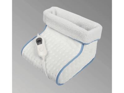 Calienta Pies Eléctrico CS-200 FM. Tiene un tejido extra suave y de alta calidad, temperatura regulable en 3 niveles y máxima seguridad.