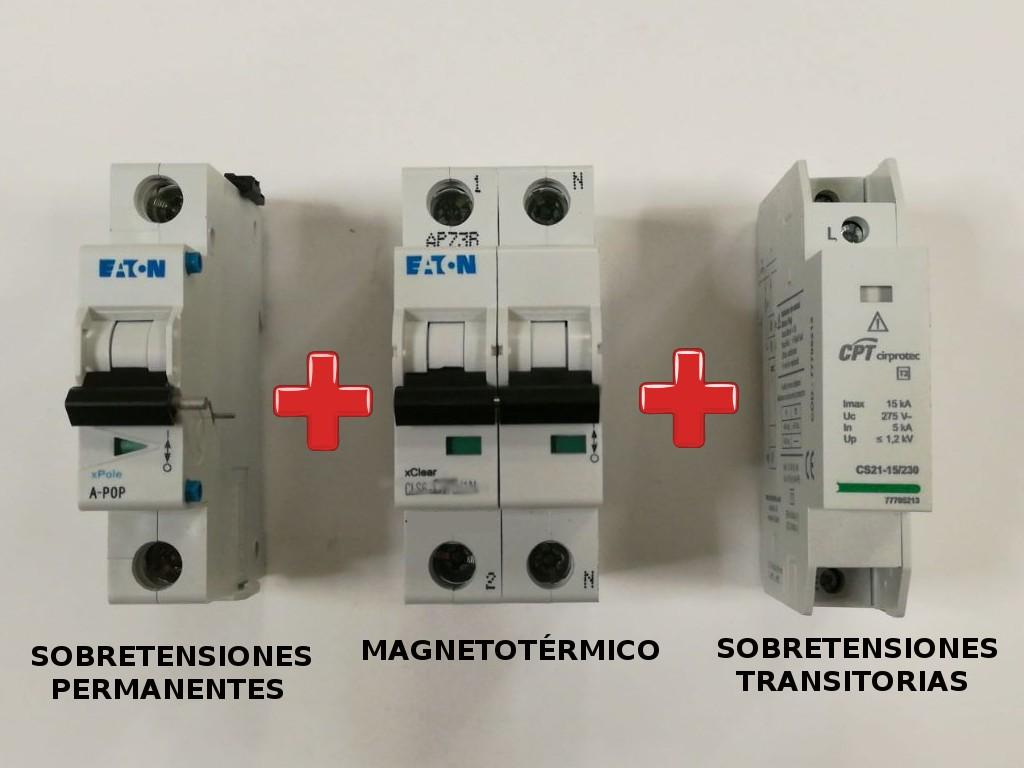 Kit sobretensiones transitorias y permanentes igp 32a for Protector sobretensiones permanentes y transitorias