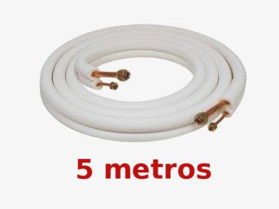 """Rollo 5m Tubo 1/4""""-3/8"""" Doble aislado"""