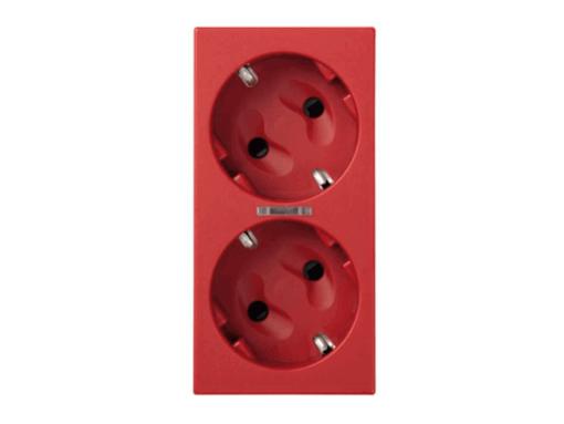 SCHUKO DOBLE RJ IDC-RAPD C/LED