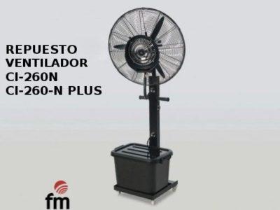 Motor Ventilador Industrial Nebulizador CI-260-N y CI-260-N PLUS