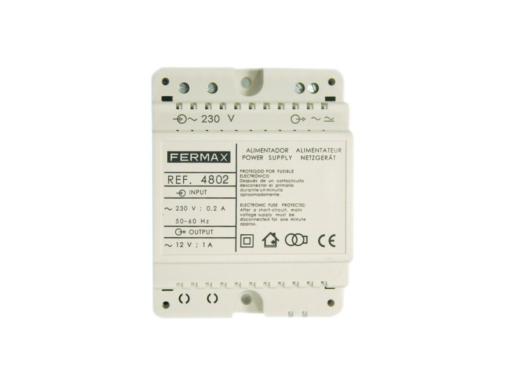 Alimentador DIN4 12V 1A FERMAX 4802