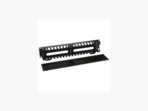Panel guía cables horizontal con tapa