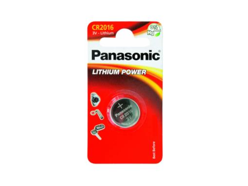 Pila botón de litio Panasonic CR-2016/1BP
