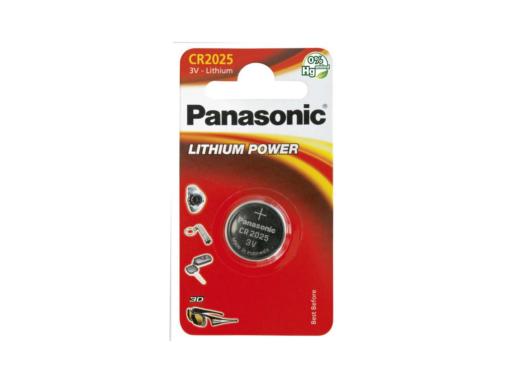 Pila botón de litio Panasonic CR-2025/1BP