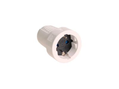 BASE TT LATERAL 10/16A 250V PVC GOMA BLANCO