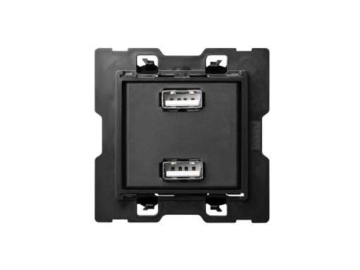 CARGADOR USB DOBLE SIMON 100 5VDC 2.1A 230V TORNILLO