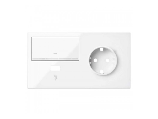 KIT FT. SIMON 100 2 EL. BASE+CARGADOR USB+INTERRUPTOR REGBL. BL