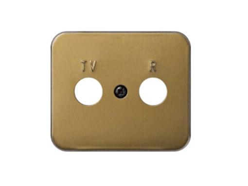 PLACA TOMA R-TV SIMON. BRONCE