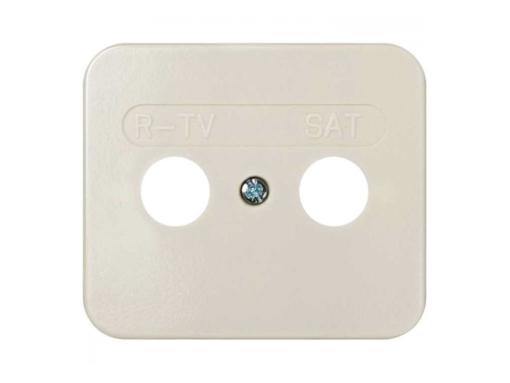 TAPA TOMA R-TV+SAT MARFIL