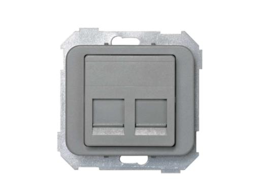 ADAPTADOR 2CONECT RJAMP GRIS