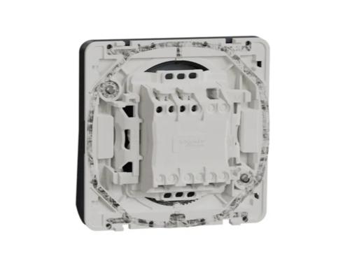 PULSADOR COMPONIBLE C/LED GRIS