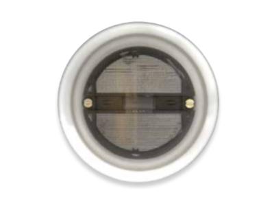 BALIZA ESCALERA CIRCULAR NEON 230V GRIS