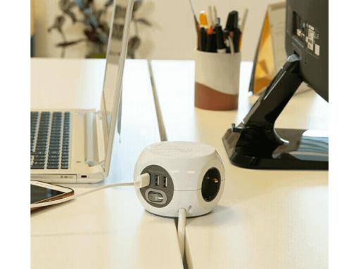 COMBI BALL 3 TOMAS+ 3 USB CON INDUCION 1.4MTS