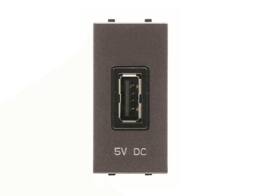 TOMA CARGADOR USB 1M 750MA/5V ZENIT ANTRACITA