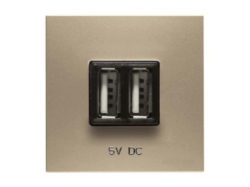 TOMA CARGADOR USB 2M 2*750MA N2285CV CAVA