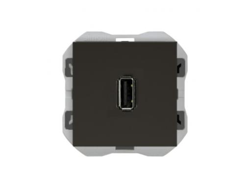CONECTOR USB SIMON 270 DATOS TIPO A NEGRO MATE