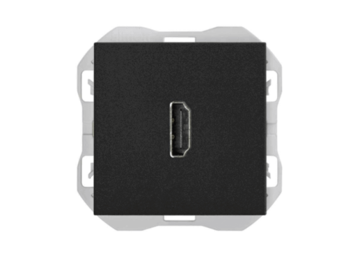 CONECTOR HDMI SIMON 270 H-H NEGRO MATE