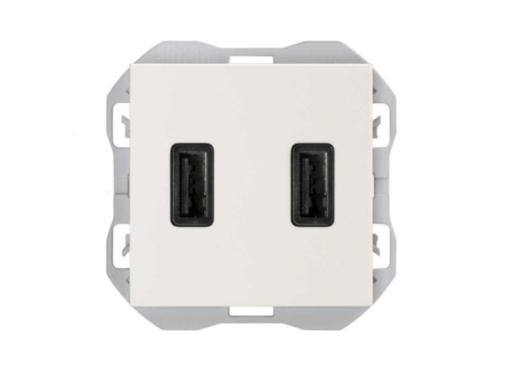 CARGADOR USB DOBLE A+A SIMON 270 2,1A BLANCO