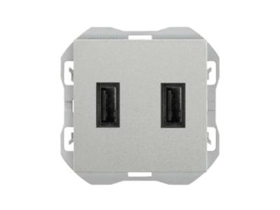 CARGADOR USB DOBLE A+A SIMON 270 2,1A ALUMINIO