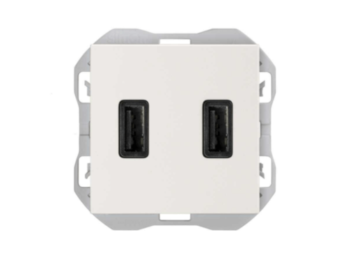 CARGADOR USB DOBLE A+A SIMON 270 3,1A SMARTCHARGE BLANCO