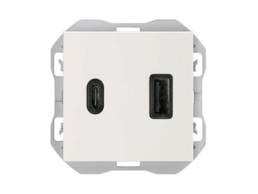 CARGADOR USB DOBLE A+C SIMON 270 3,1A QUICKCHARGE BLANCO