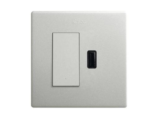 KIT MONOBLOCK CONM. PULSANTE+CARGADOR USB SIMON 270 2,1A SMAR