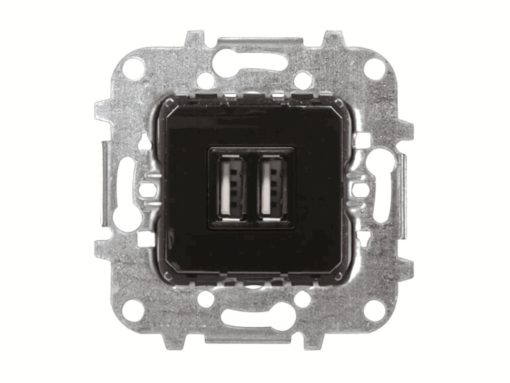 TOMA CARGADOR USB DOBLE 2x750mA/5V