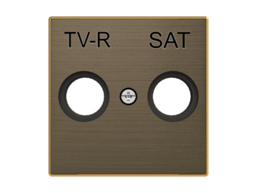 TAPA TOMA TV+R / SAT DE LA SERIE SKY COLOR ORO ENVEJECIDO