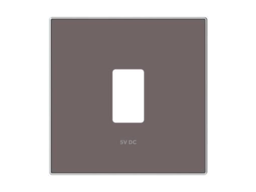 TAPA CARGADOR USB SIMPLE TAUPE