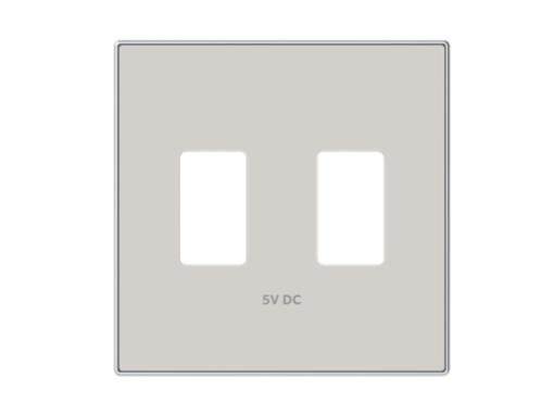 TAPA CARGADOR USB DOBLE DUNA