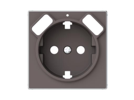 TAPA BASE SCHUKO + DOBLE CARGADOR USB SKY NIESSEN TAUPE