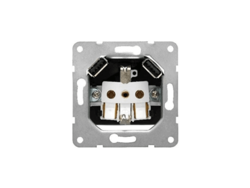BASE ENCHUFE SCHUKO CON DOBLE CARGADOR USB 2.4A