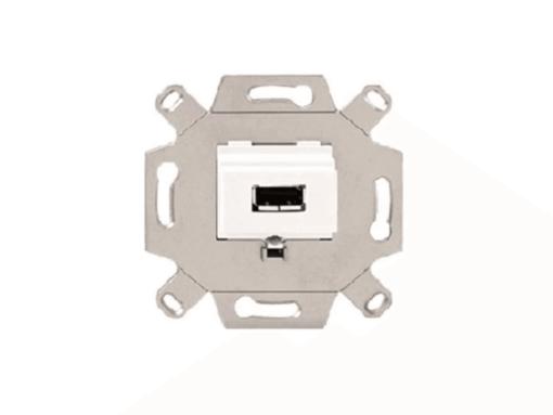 CONECTOR USB EN GRIS TIPO A COMPATIBLE CON USB 2.0 EMBORNE P