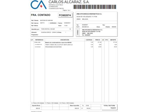 BATERIA CONDENSADORES I-SAVE BOX+60/440